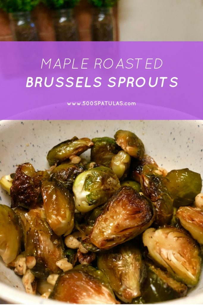 Maple Roasted Brussels Sprouts