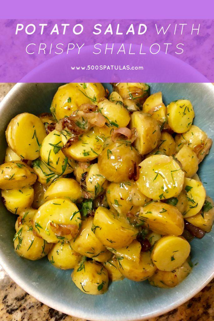 Potato Salad with Crispy Shallots