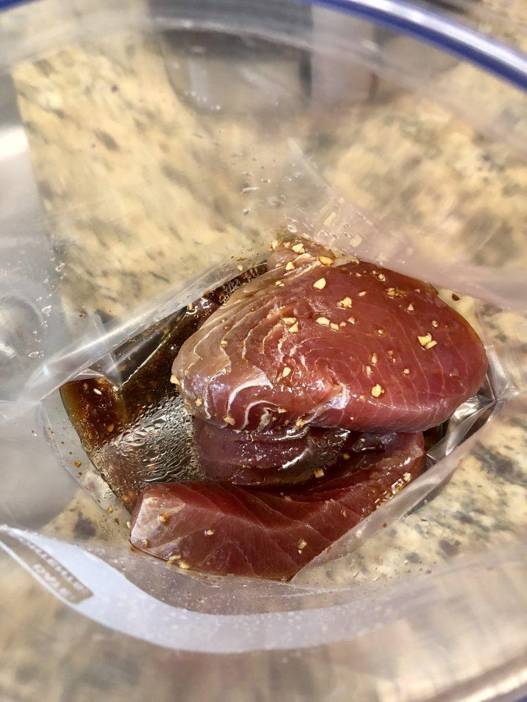 Sesame Crusted Seared Tuna Rice Bowl