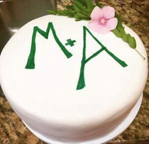 Funfetti Bridal Shower Cake