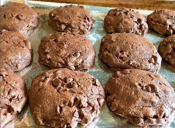 Double Chocolate Monster Cookies
