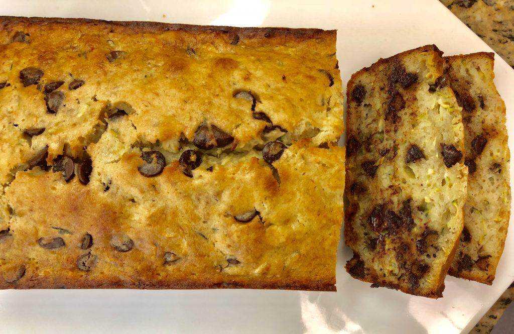 Chocolate Chip Banana Zucchini Bread