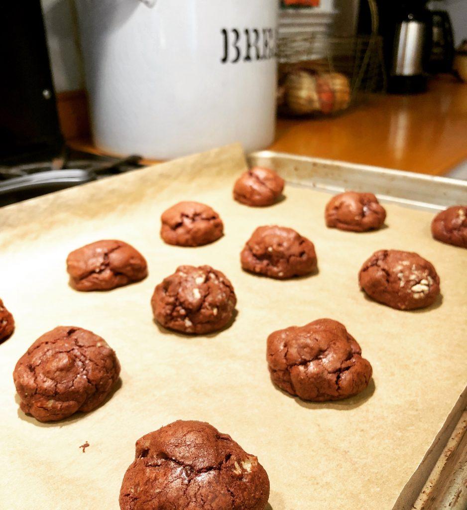 Brownie Walnut Chunk Cookies