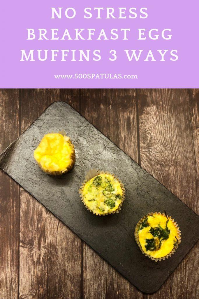 No Stress Breakfast Egg Muffins