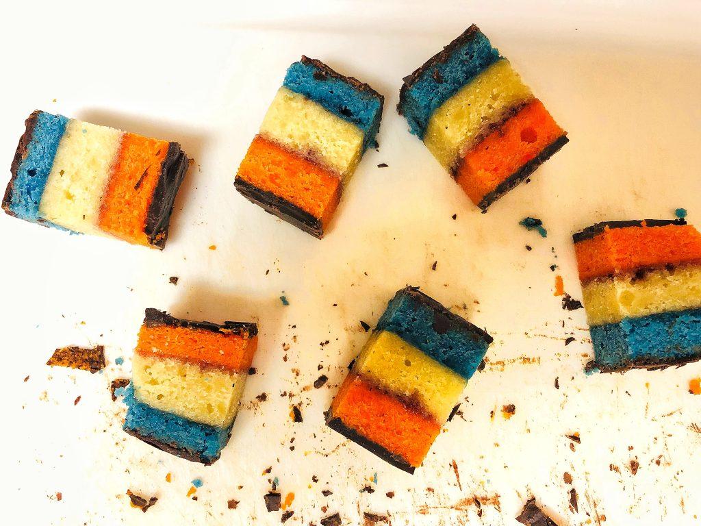 Knicks Themed Rainbow Cookies
