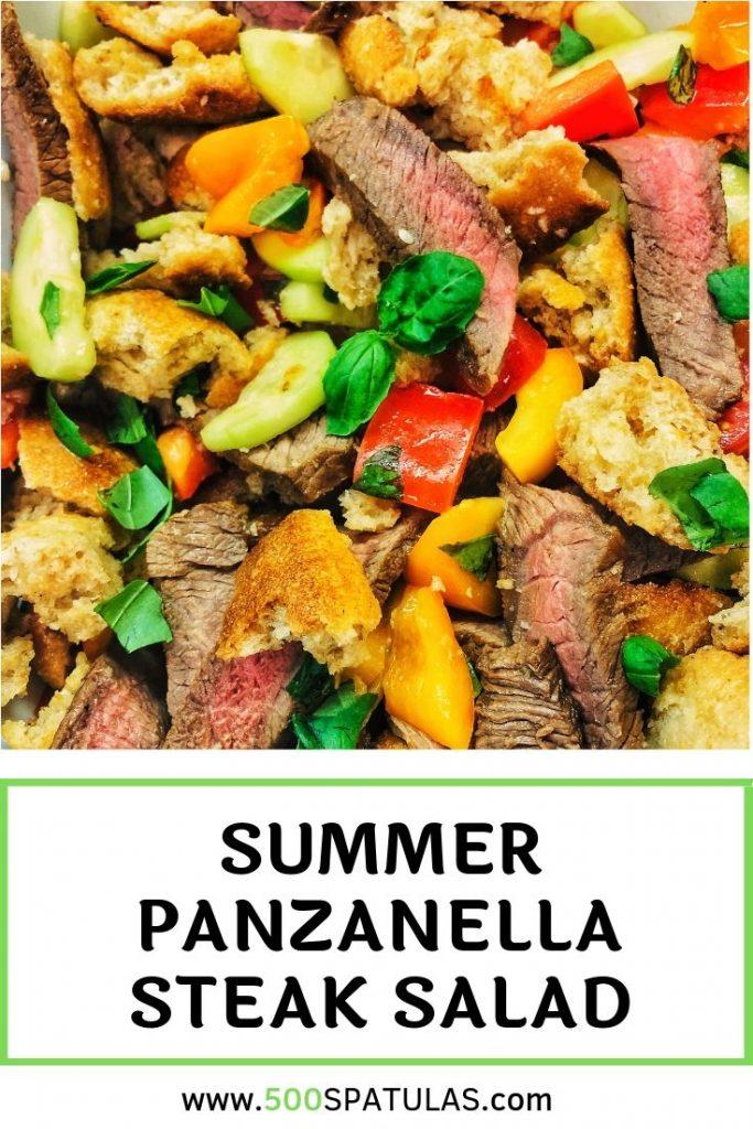 Summer Panzanella Steak Salad