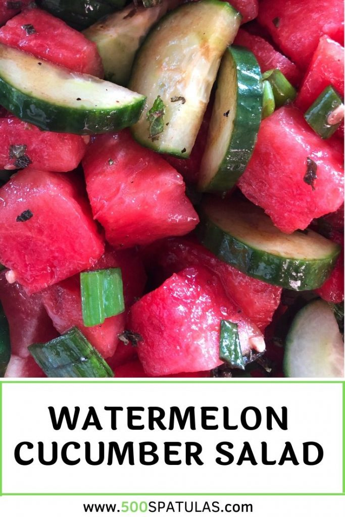 We're going easy, breezy, DELICIOUS with one of my go-to Summer salads. This Watermelon Cucumber Salad is light, refreshing, and really lets the produce shine--ok maybe we kick it up a notch or two #500spatulas #summer #salad