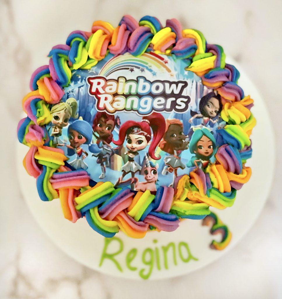 Rainbow Rangers Cake